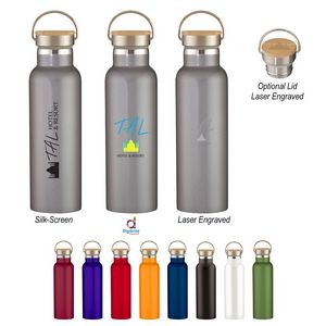 21 Oz. Tipton Stainless Steel Bottle With Bamboo Lid